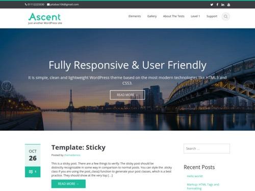 ascent free wordpress theme 2015