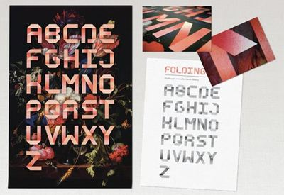 folding display typeface