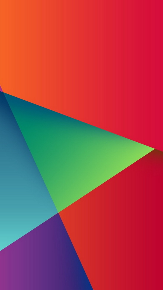 abstract colorful triangles iphone wallpaper