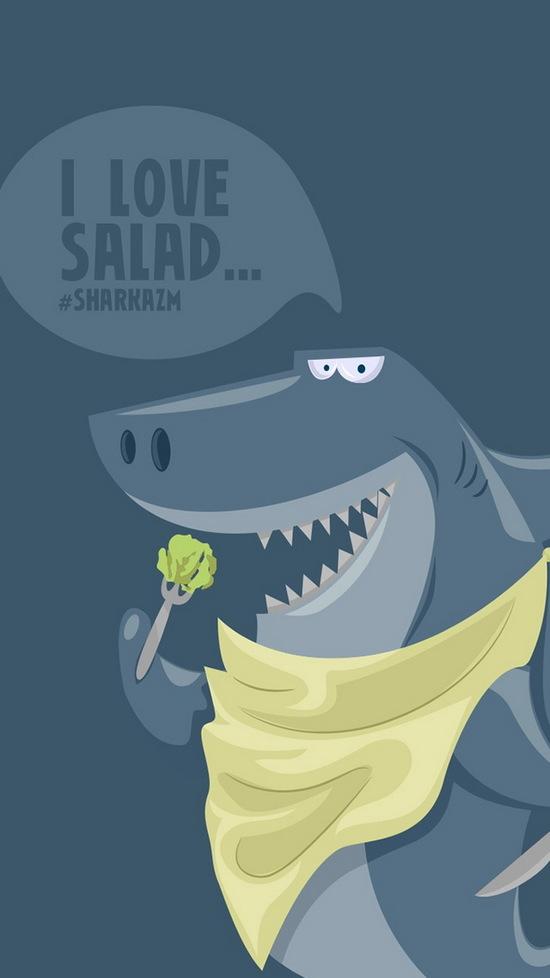 funny shark sharkazm iphone six wallpaper