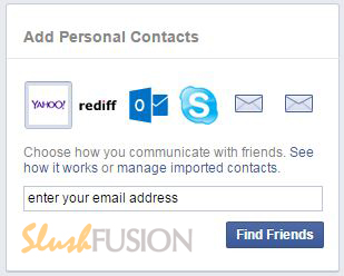 find facebook friends using email