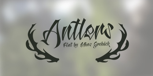 antlers font