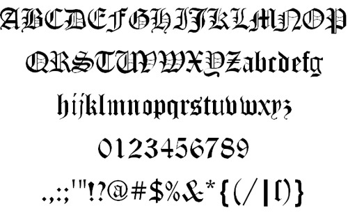 canterbury font