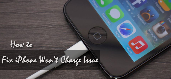 fix iphone won't charge reasons