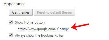 change homepage to google
