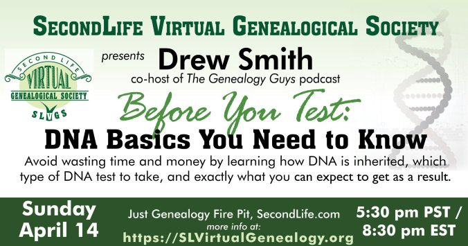 SL Virtual Genealogical Society - For Genealogists in the Virtual