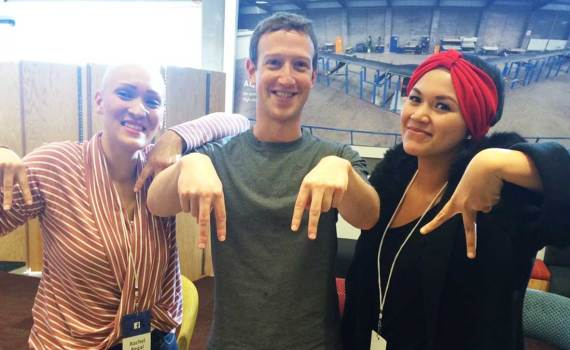 Abby Asistio meets Mark Zuckerberg