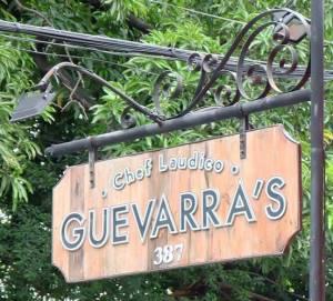 Guevarra's signage