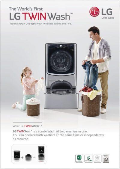LG Twinwash poster