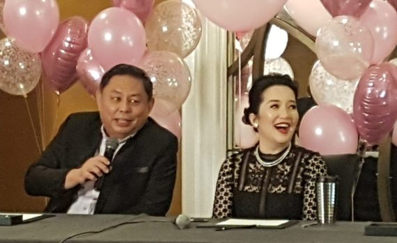 Dioceldo Sy and Kris Aquino at the presscon