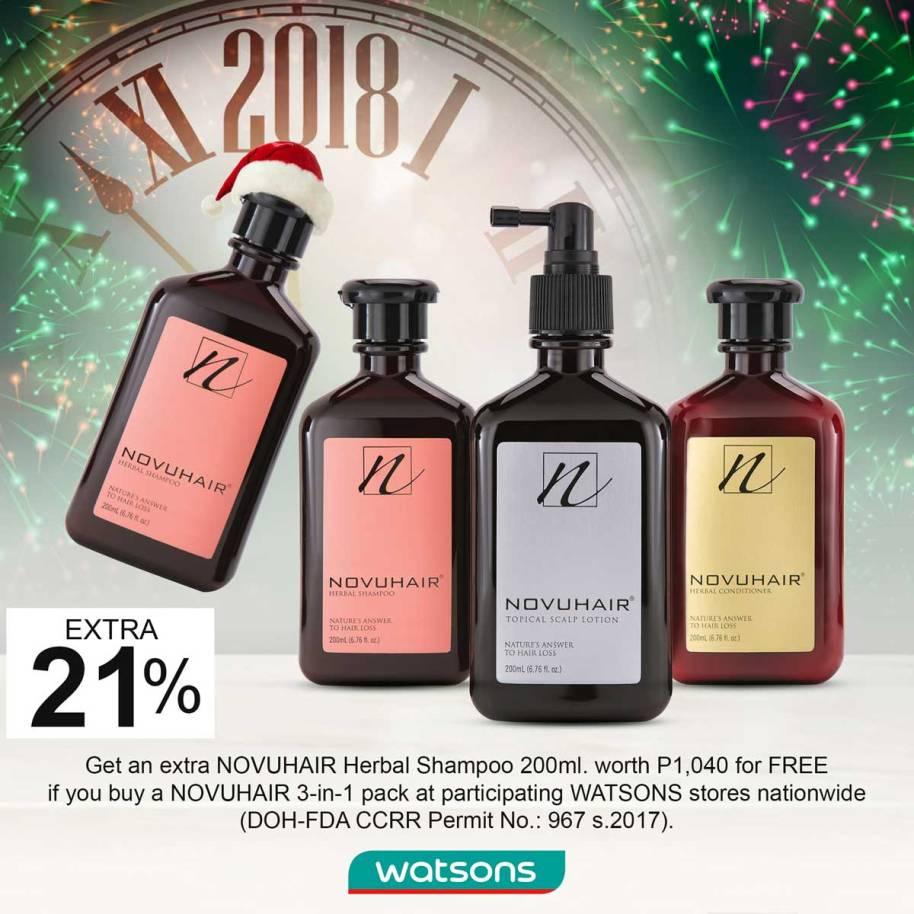 Watsons and Novuhair Christmas and Yearend Promo for 2017