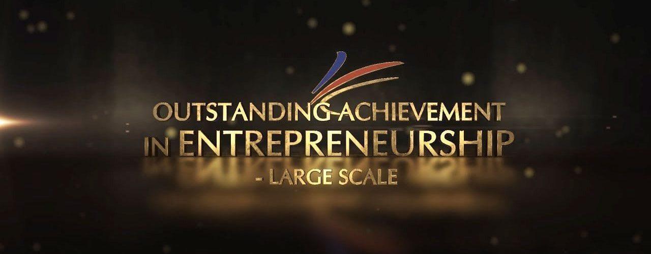 agora outstanding achievement in entrepreneurship large scale