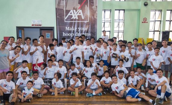 AXA Philippines stages first Youth Basketball Clinic