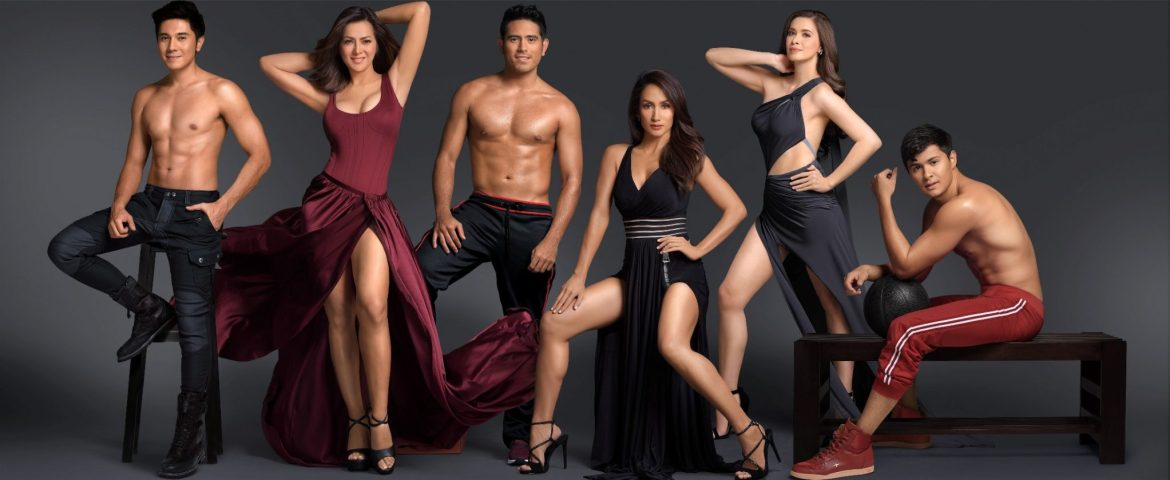 Paulo Avelino, Alice Dixon, Gerald Anderson, Ina Raymundo, Sunshine Cruz, and Matteo Guidicelli for Century Tuna Superbods Ageless