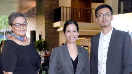Leni Bandojo, Rowena Ramos, and Rey Azarcon of BERDE