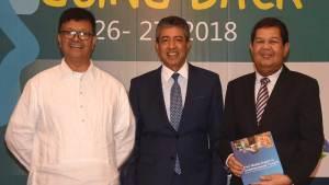 (L-R) Microfinance Council of the Philippines, Inc. chair Fr. Jose Victor Lobrigo; Citi Philippines CEO Aftab Ahmed and Bangko Sentral ng Pilipinas governor Nestor Espenilla, Jr.