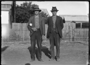 Typical workers in Yarloop: Reg Cattach and Tom McAlinden Yarloop 1929 049946PD