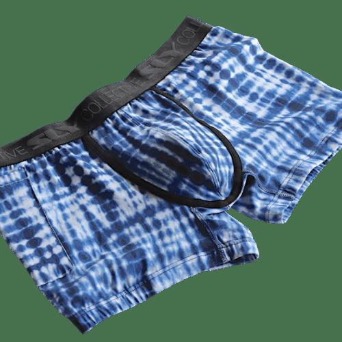 blue trunks