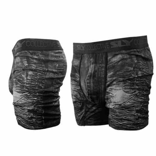 2 pack black distressed denim