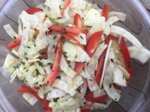 Fennel and Red Pepper Salad
