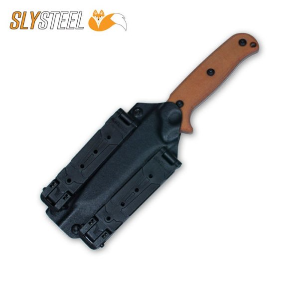 Photo of Skeletek Bushcraft Blade-Tech Molle-Lok knife for survival, hunting, and camping by SLYSTEEL