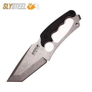 Photo of Shark Tooth Tactical Clear Cerakote knife for firefighting, military and law enforcement by SLYSTEEL