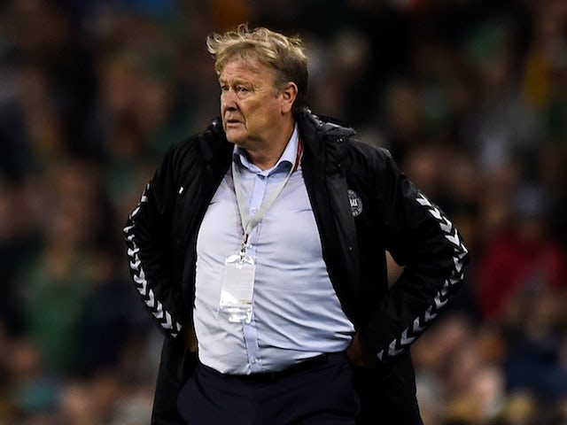 Denmark manager Age Hareide on November 14, 2017