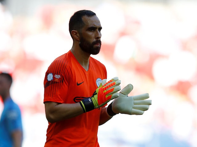 Claudio Bravo in action for Manchester City in the Community Shield on August 5, 2018