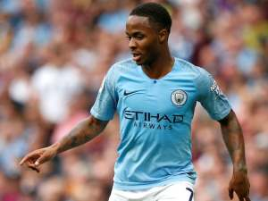 Raheem Sterling in action for Manchester City on September 1, 2018
