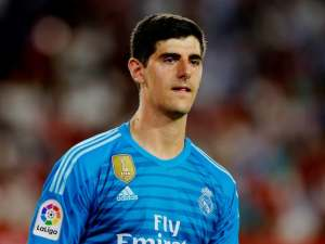 Thibaut Courtois in action for Real Madrid on September 26, 2018