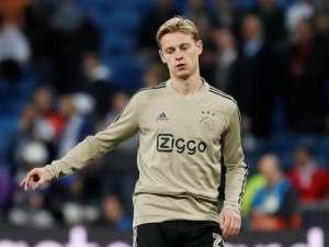 Ajax midfielder Frenkie de Jong pictured in March 2019