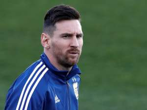 Lionel Messi in Argentina training on March 20, 2019