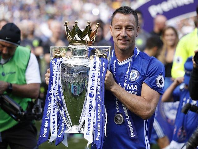 John Terry lifts the Premier League trophy in 2017