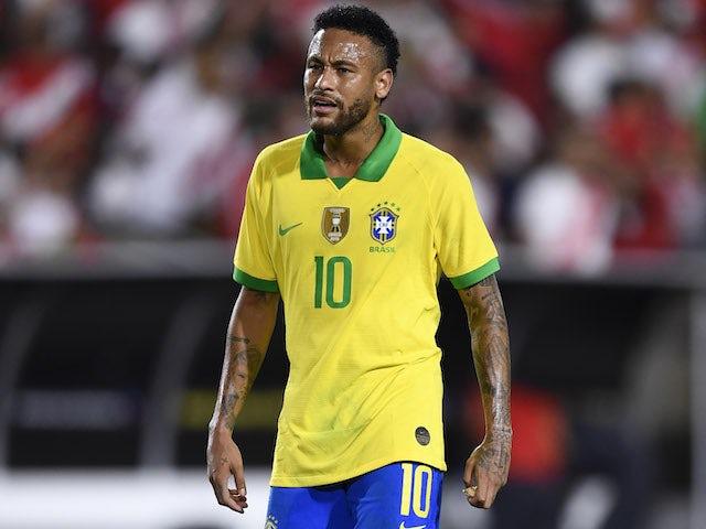 Neymar in action for Brazil on September 10, 2019