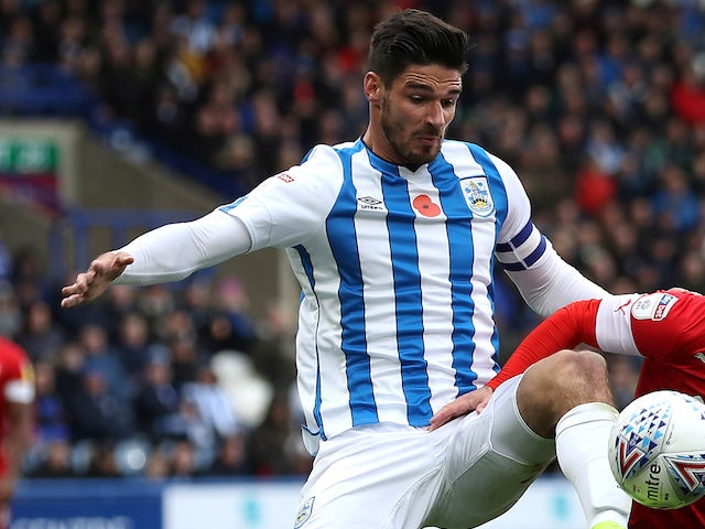Christopher Schindler in action for Huddersfield Town on October 26, 2019