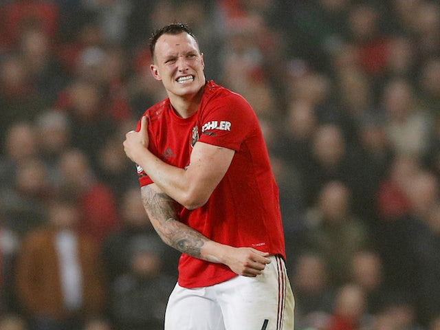 Manchester United defender Phil Jones pictured in January 2020