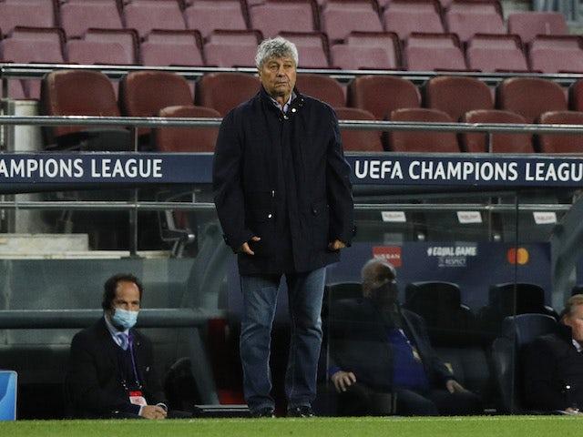 Dynamo Kiev manager Mircea Lucescu pictured on November 4, 2020