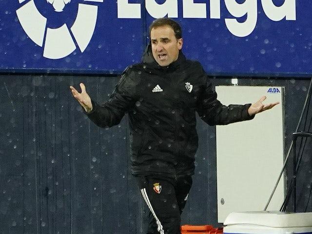 Osasuna head coach Jagoba Arrasate pictured on January 9, 2021