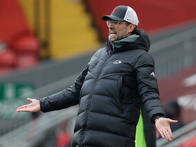 Liverpool manager Jurgen Klopp pictured on March 7, 2021