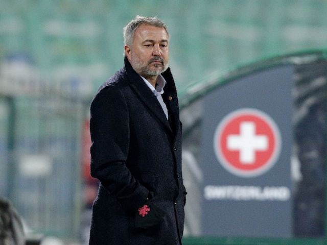 Bulgaria coach Yasen Petrov pictured on March 25, 2021