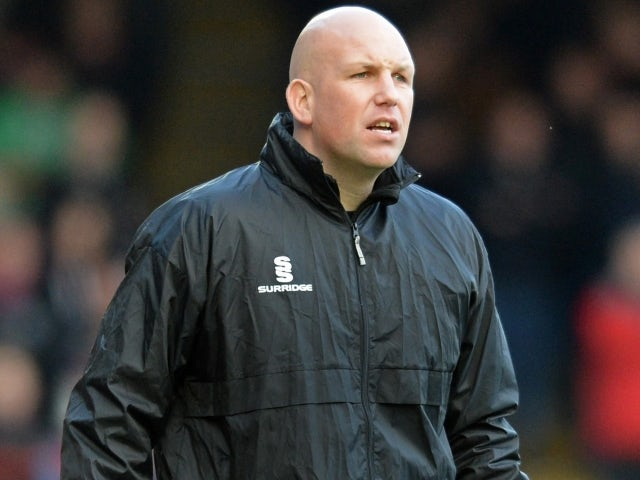 Sutton United manager Matt Gray as Aldershot's assistant coach in December 2014