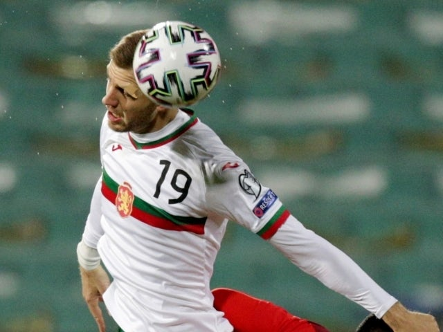 Bulgaria's Atanas Iliev in action on March 25, 2021