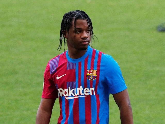 Ansu Fati pictured for Barcelona in June 2021