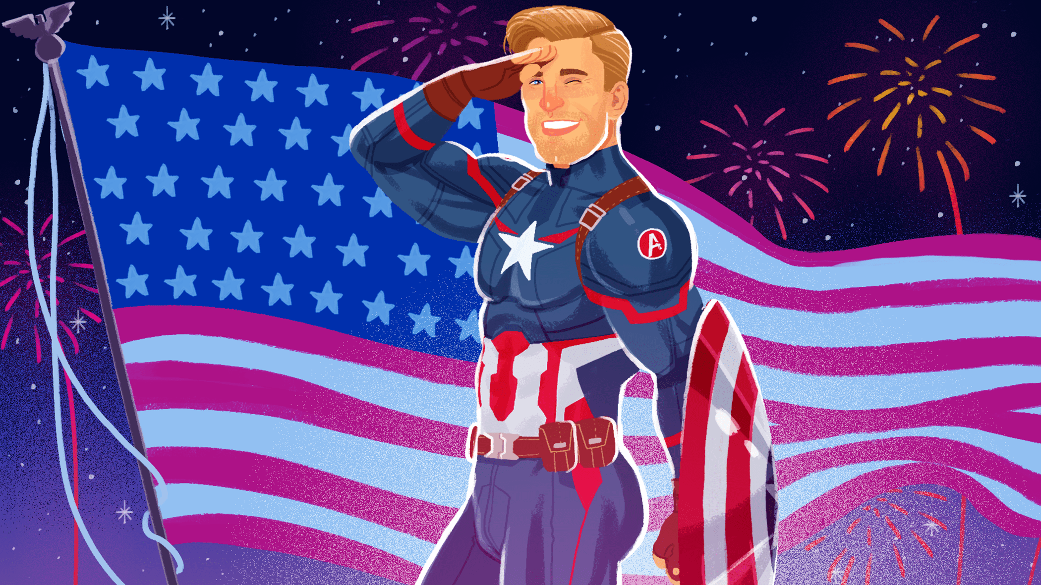 Happy Birthday Captain America Thanks For The Ass Entertainment