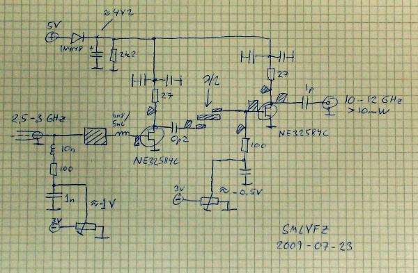 Fet Multiplier For 10 12 Ghz Rf Ideas And Notes Sm6vfz