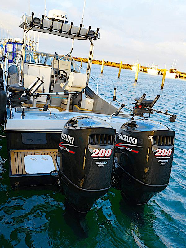 2 x 200 HK Suzuki påhængsmotorer