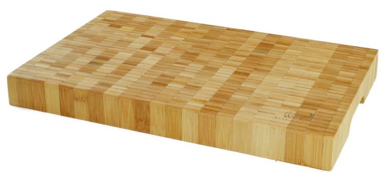 """An end-grain bamboo cutting board is less likely to get """"hairy"""", and quality boards cost only about $50. This one ships from WA!"""
