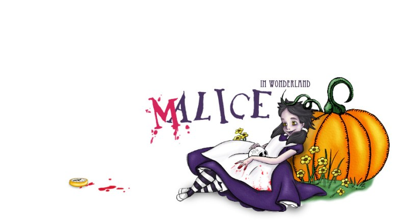 customised version of Disney's Alice for an online website Halloween feature.
