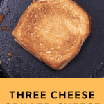 Pinterest Graphic for grilled cheese recipe.