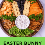 Pinterest graphic for Easter Bunny Charcuterie Board